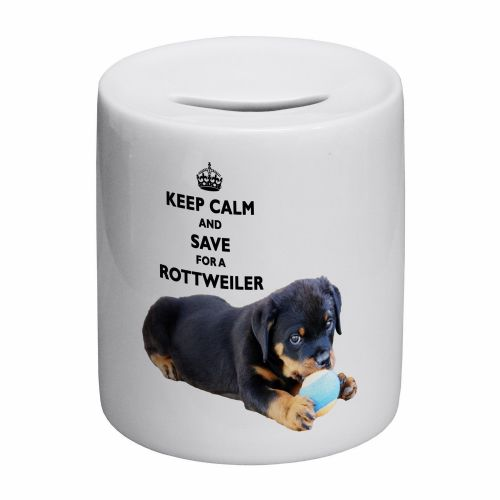 Keep Calm And Save For A Rottweiler Novelty Ceramic Money Box